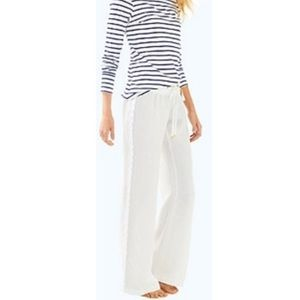 Lilly Pulitzer The Beach Pant in white size small